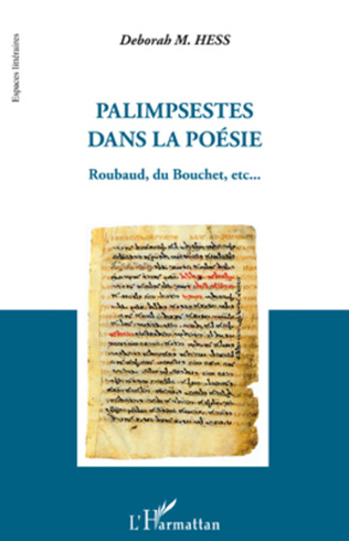 Couverture Palimpsestes dans la poésie