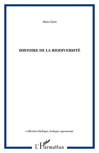 Couverture Histoire de la biodiversité