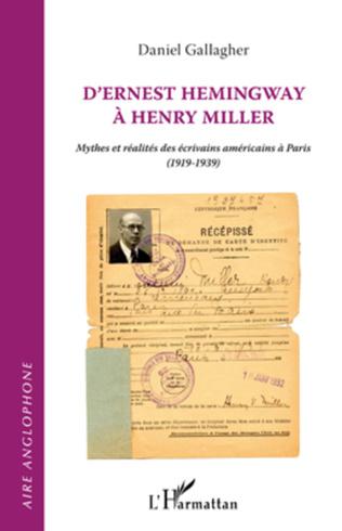 Couverture D'ERNEST HEMINGWAY A HENRY MILLER