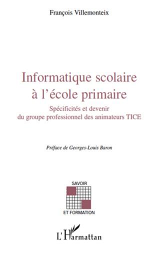 Couverture Informatique scolaire à l'école primaire