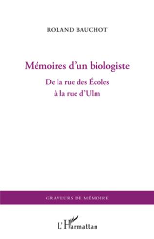 Couverture Mémoires d'un biologiste
