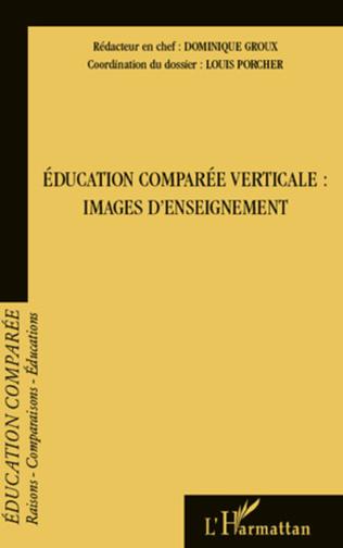 Couverture Education comparée verticale : images d'enseignement