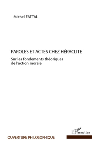 Couverture Paroles et actes chez Héraclite