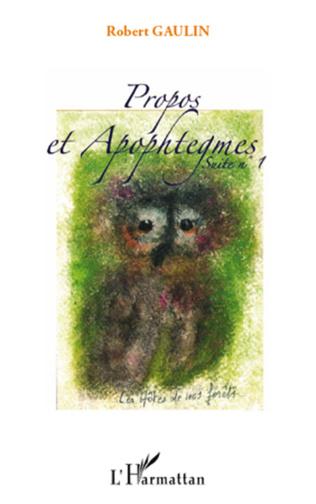 Couverture Propos et apophtegmes