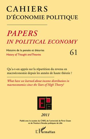Couverture Qu'a-t-on appris sur la répartition du revenu en macroéconomie depuis les années de haute théorie ?