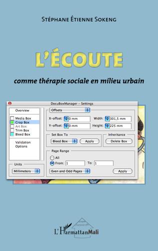 Couverture L'écoute comme thérapie sociale en milieu urbain