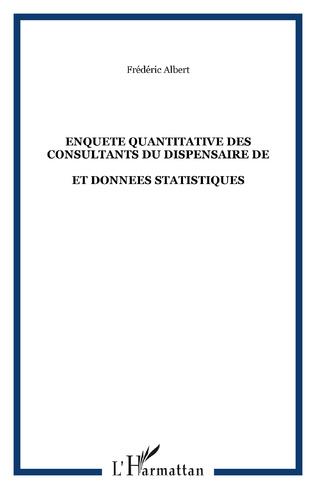 Couverture ENQUETE QUANTITATIVE DES CONSULTANTS DU DISPENSAIRE DE