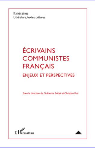 Couverture Ecrivains communistes français