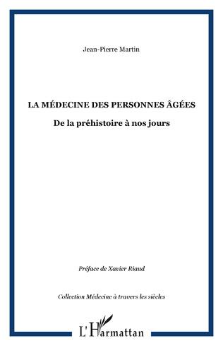 Couverture La médecine des personnes âgées