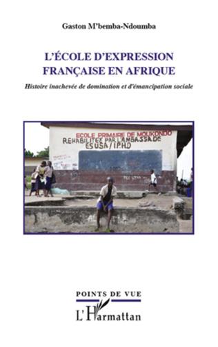 Couverture L'école d'expression française en Afrique