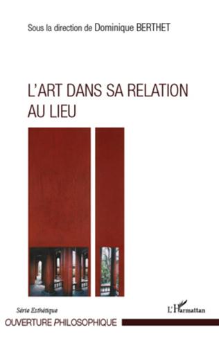 Couverture L'Art dans sa relation au lieu