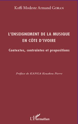 Couverture L'enseignement de la musique en Côte d'Ivoire