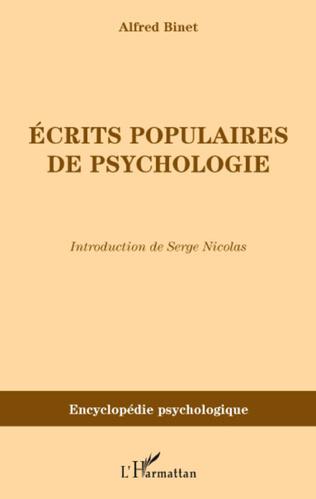 Couverture Ecrits populaires de psychologie