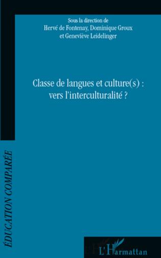 Couverture Classe de langues et culture(s) : vers l'interculturalité