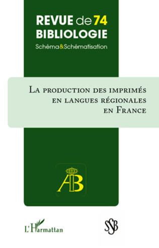 Couverture Production des imprimés en langues régionales en France
