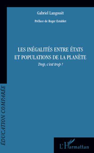 Couverture Les inégalités entre états et populations de la planète