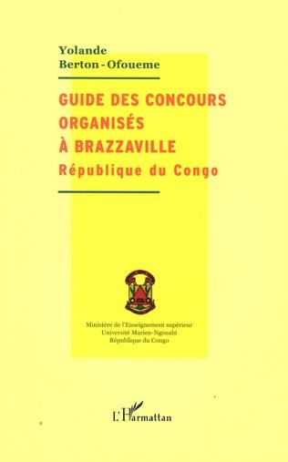Couverture Guide des concours organisés à Brazzaville