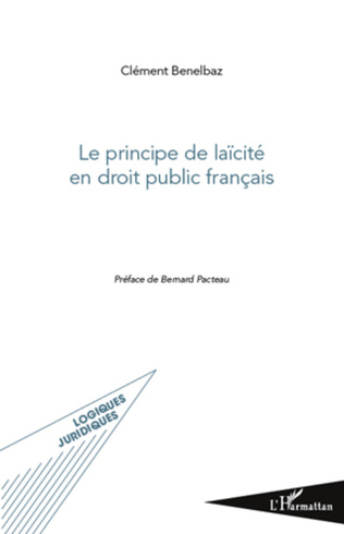 Couverture Le principe de laïcité en droit public français