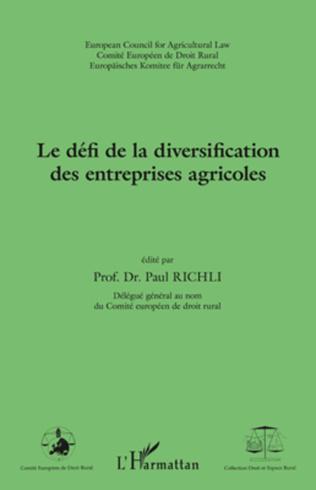 Couverture Le défi de la diversification des entreprises agricoles