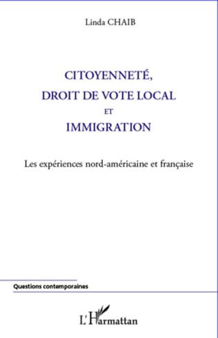 Couverture Citoyenneté, droit de vote local et immigration