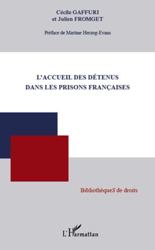 Couverture L'accueil des détenus dans les prisons françaises