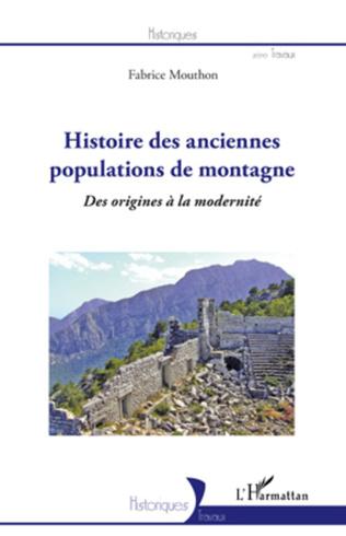 Couverture Histoire des anciennes populations de montagne