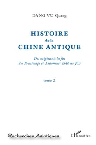 Couverture Histoire de la Chine Antique (Tome 2)