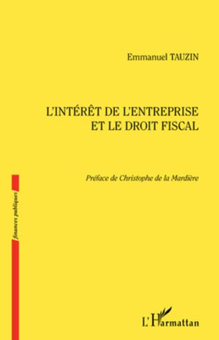 Couverture L'intérêt de l'entreprise et le droit fiscal