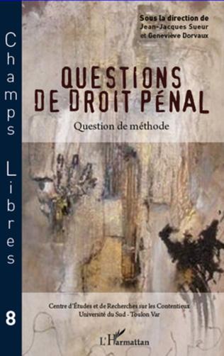 Couverture Questions de droit pénal