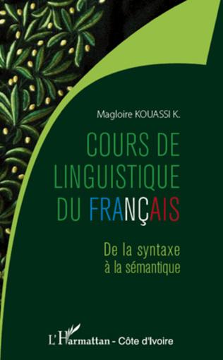 Couverture Cours de linguistique du français