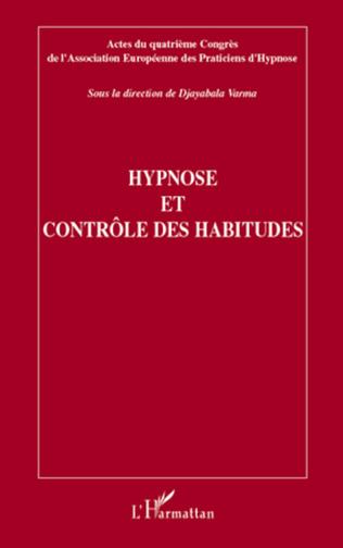 Couverture Hypnose et contrôle des habitudes