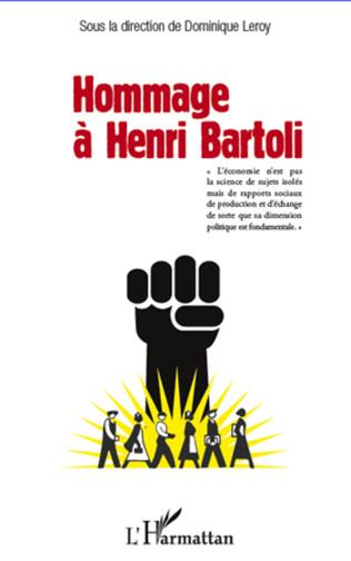 Couverture Hommage à Henri Bartoli