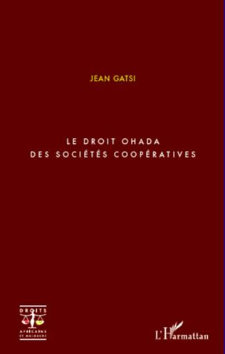 Couverture Le droit OHADA des sociétés coopératives