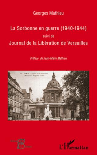Couverture La Sorbonne en guerre (1940-1944)
