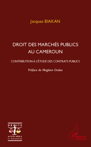 Couverture Droit des marchés publics au Cameroun