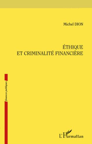 Couverture Ethique et criminalité financière