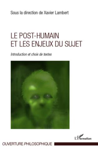 Couverture Le post-humain et les enjeux du sujet