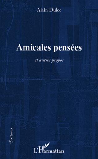 Couverture Amicales pensées
