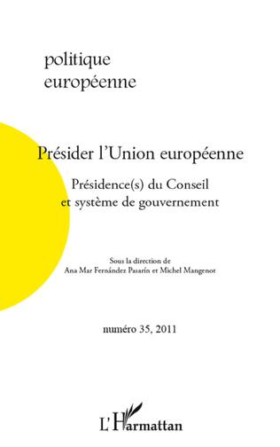 Couverture Présider l'Union européenne