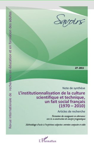 Couverture L'INSTITUTIONNALISATION DE LA