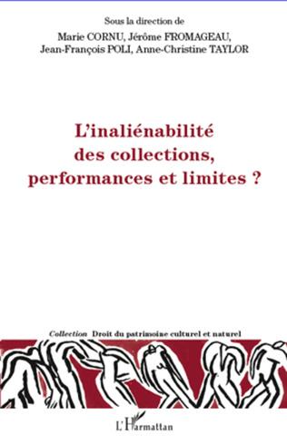 Couverture L'inéliénabilité des collections, performances et limites ?