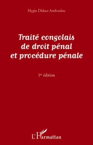 Couverture Traité congolais de droit pénal et de procédure pénale