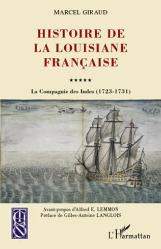 Couverture Histoire de la Louisiane française