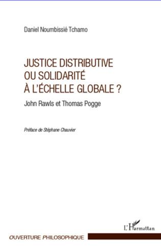 Couverture Justice distributive ou solidarité à l'échelle globale ?