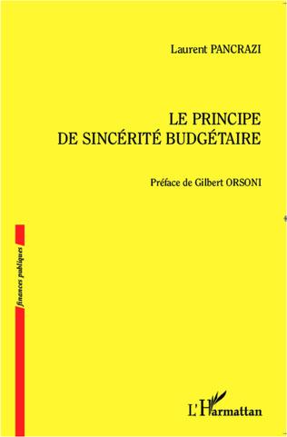 Couverture Le principe de sincérité budgétaire