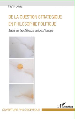 Couverture De la question stratégique en philosophie politique