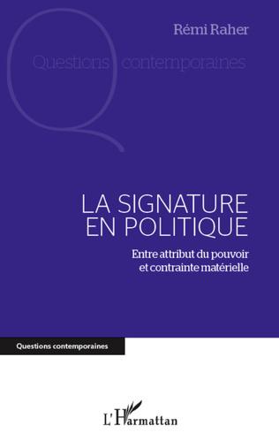 Couverture Signature en politique