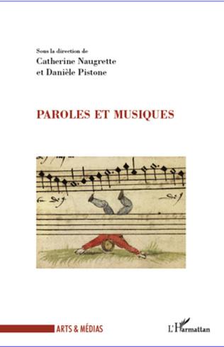 Couverture Paroles et musiques