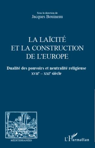 Couverture La laïcité et la construction de l'Europe