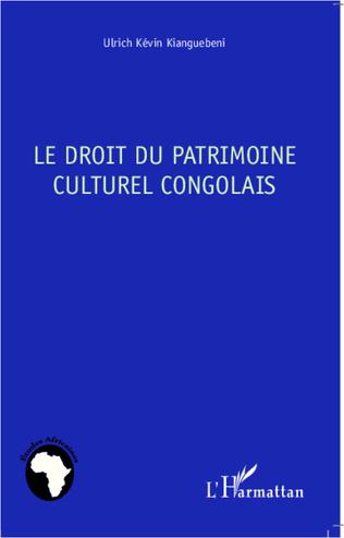 Couverture Le droit du patrimoine culturel congolais